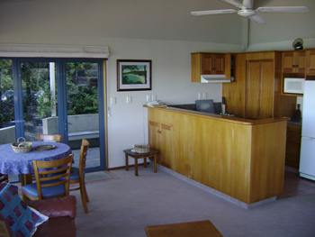 Spacious living and kitchen area